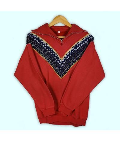 Sweater rose foncé; zip 1/4.